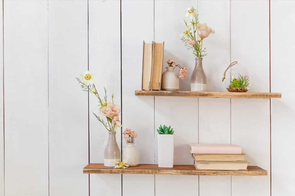 shutterstock 1059234383 1024x683 - How to create a feature wall using floating shelving
