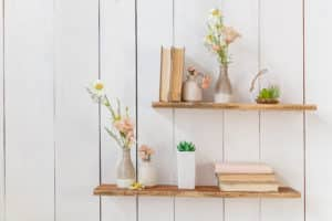 shutterstock 1059234383 300x200 - How to create a feature wall using floating shelving